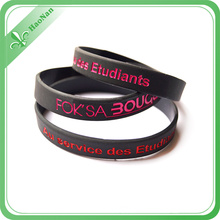 Bracelet promotionnel de bracelet de silicone fait sur commande