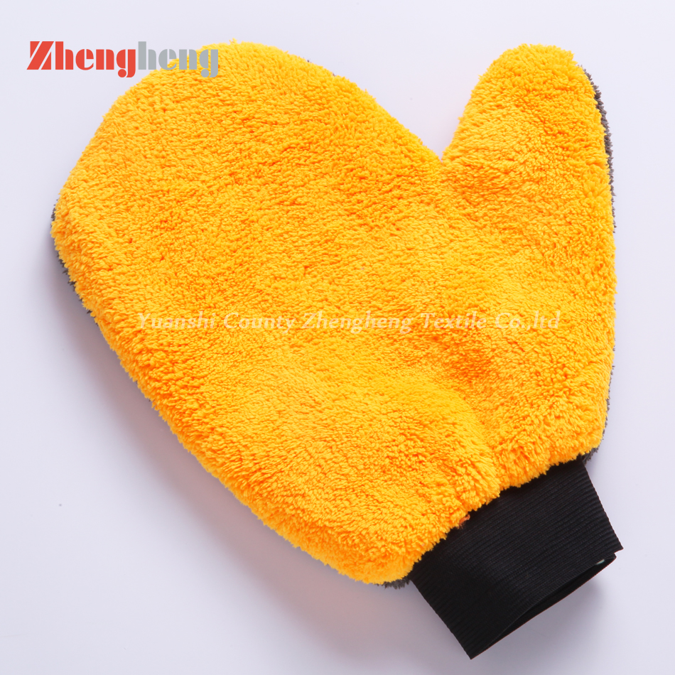 Double Layers Coral Microfiber Gloves