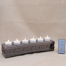 Ricaricabile movimento fiamma Votives Set di 6