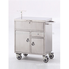 Stainless steel trolley for emergency F-6