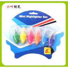 6PCS Mini Textmarker Set (LH-3208)
