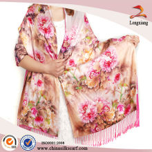 Double Layer Silk Feeling Lady Pashmina Schal