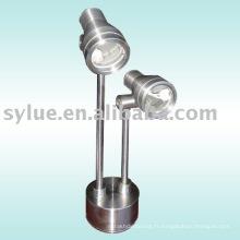 Lampe de bureau en acier inoxydable sans ampoule