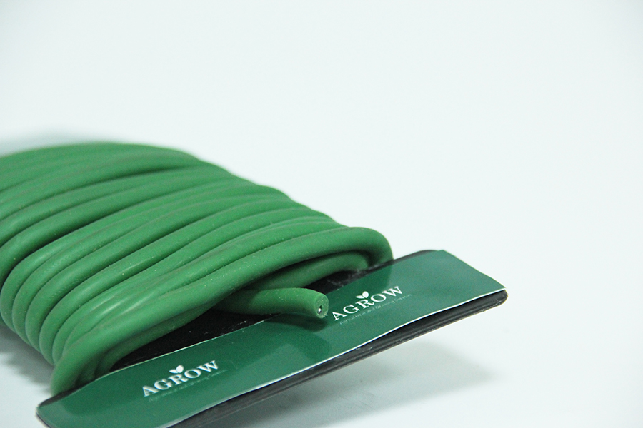 Garden Flexible Ties Reusable Rubber TwistTie,Green Soft Twist Tie for Plants,Twist Tie Wire in Side Plant Rubber Coated Wire Tie Garden Soft Tie