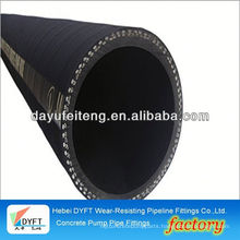 """ihi 5.5"""" concrete pump fabric hose DN100*8M chinese industrial steel wire reinforced concrete pump and hose whip"""