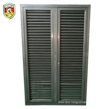 European modern style exterior blinds shutter blade aluminium louver casement windows in china