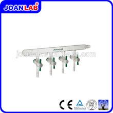 Joan Laboratory Glassware Vakuumverteiler mit PTFE Stocpcock
