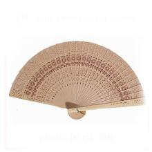 punho de madeira promocional mão dobrável imitar ventilador de madeira