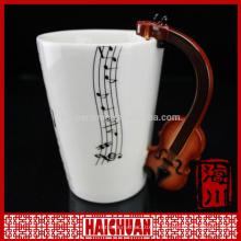 Caneca de café cerâmica da forma quadrada antiga de HCC