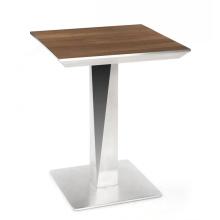 Mesas de comedor de restaurante de madera de marco metálico de alta gama coreana