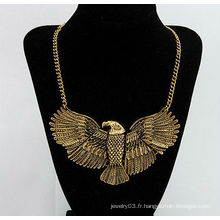 Mode Alliage style oiseau collier en or Vente en gros 70g-400x115x60mm Collier bijoux 10072542