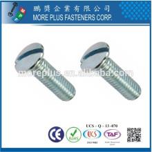 Maker in Taiwan Carbon Steel DIN964 Mx18 Slotted erhöhte Senkkopfschraube