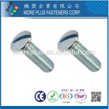 Fabricante em Taiwan Carbon Steel DIN964 Mx18 Slotted Raised Countersunk Machine Screw