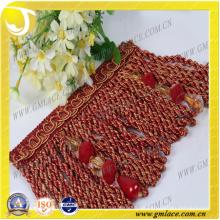 China-Lieferanten-Hochzeits-Kleid-Kostüm-Vorhang-Troddel-reizvolle Korn-Bullion-Ordnung