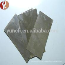 Placas / folhas de molibdênio Mo364 Mo364 Mo364 de ASTM B386-91 e GB3876-83 Mo360, folha / folhas / placas lustradas do molibdênio para a venda