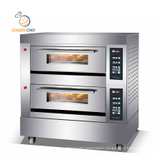 gas digital control panel 2 decks 6trays steam function timer big oven for baking gas bakery oven commercial oven for bakery