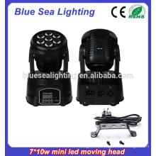 7x10w rgbw 4in1Led Mini gebrauchte bewegliche Scheinwerfer