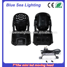 Prix ​​d'usine 7x10w rgbw 4in1led china moving heads