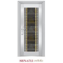 Puerta de acero inoxidable para exteriores (SBN-6713)