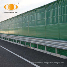 High quality color steel plate highway noise barrier panels inflatable wall, reinforced noise barrier with fiberglass wool