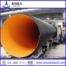Tubo corrugado reforçado de aço de grande diâmetro PE para água corrente