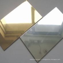 Matériau de décoration murale extérieure Golden Mirror Aluminium Composite Panel