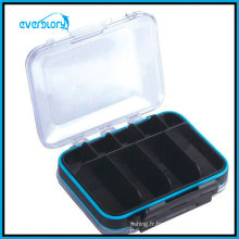 Boîte à mouches transparente de couleur de l'eau de preuve