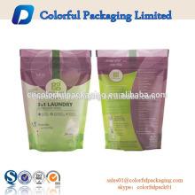 125 g, 200 g, 500 g, 800 g, bolsas de embalaje de polvo de detergente para ropa de diseño personalizado de 1 kg