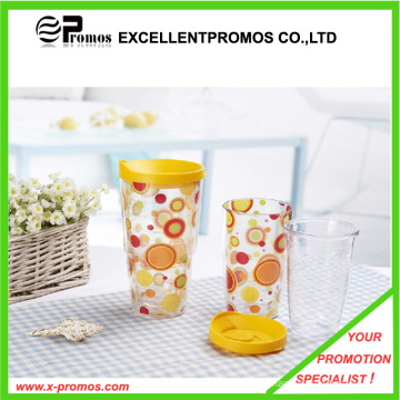 Advertising Logo Transparent Custom Plastic Cup (EP-M525511)