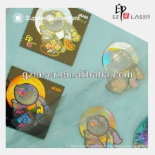Hot sell hologram engraved fashion metal label