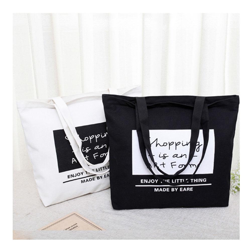 Printed custom canvas zipper bag