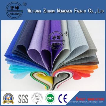 Tela 100% não tecida dos PP Spunbond dos materiais de matéria têxtil, tela não tecida de alta qualidade de China