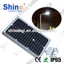 Lúmens elevados levou luz steet super brilhante IP65 luz solar integrada painel de rua