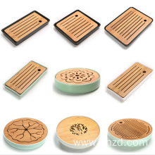 Ceramic Bamboo Water storage Kung Fu Tea tray
