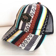 Chapéu de basebol bordado com bordado de chama de borda construída