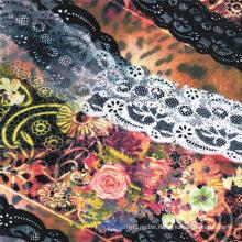 China Manufacturer Digital Print 100% Silk Fabric (XF-0065)