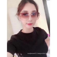 High Quality Square Rimless Sunglasses For Women