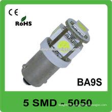 Hot sale 5pcs 5050 SMD DC12V Ba9s lampe LED