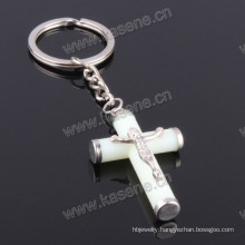 Hot Sale Catholic Luminous Green Jesus Cross Keychain