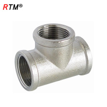 B17 6 8 3-Wege-Nickel-Rohr-Verbindungsrohre Sanitärrohre Messing Sanitärarmaturen
