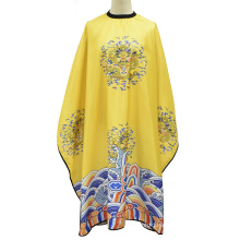 New Design Chinese Style Emperor Robe Dragon Pattern Hair Cutting Cape for Hairdressing
