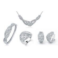 Ensemble de bijoux à la mode 925 Bracelet en argent sterling Micro Pave Set