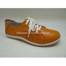 Lates Frauen Freizeit Leder Schuhe Casual Leder Schuhe (SF002)