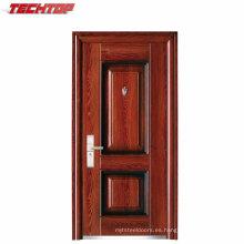TPS-037 1 puerta de entrada principal de China y venta de puertas de acero de la fábrica
