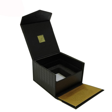 Emballage de boîte en verre de parfum noir