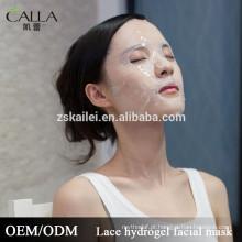 2016 nova máscara facial laço de colágeno facial folha