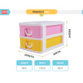 Best well colorful 5-layers tabletop plastic drawers for kids