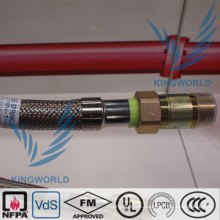 Nominal Assembly Lengths Flexible Sprinkler Hose Stainless Steel UL FM