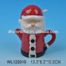 2016 Santa de Navidad de cerámica de la leche y la olla de azúcar