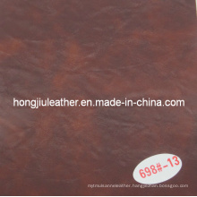 Two Color Dark Red Oil Wax Decorative Leather